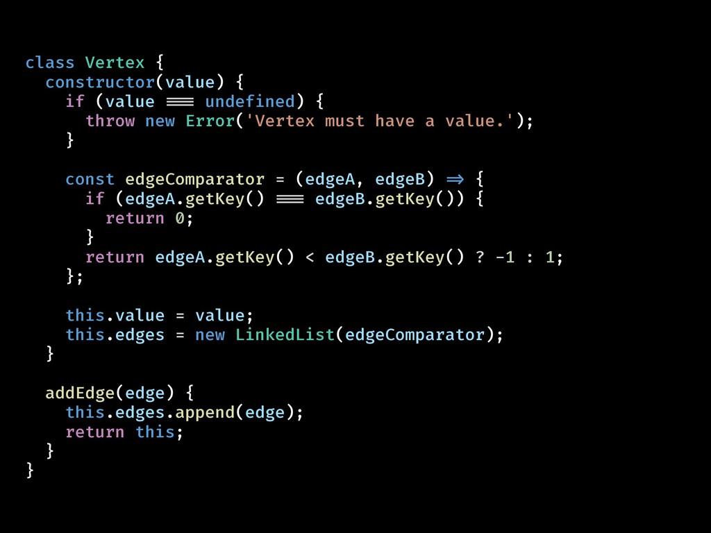 class Vertex { constructor(value) { if (value !...
