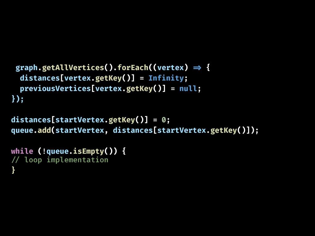 graph.getAllVertices().forEach((vertex) !=> { d...