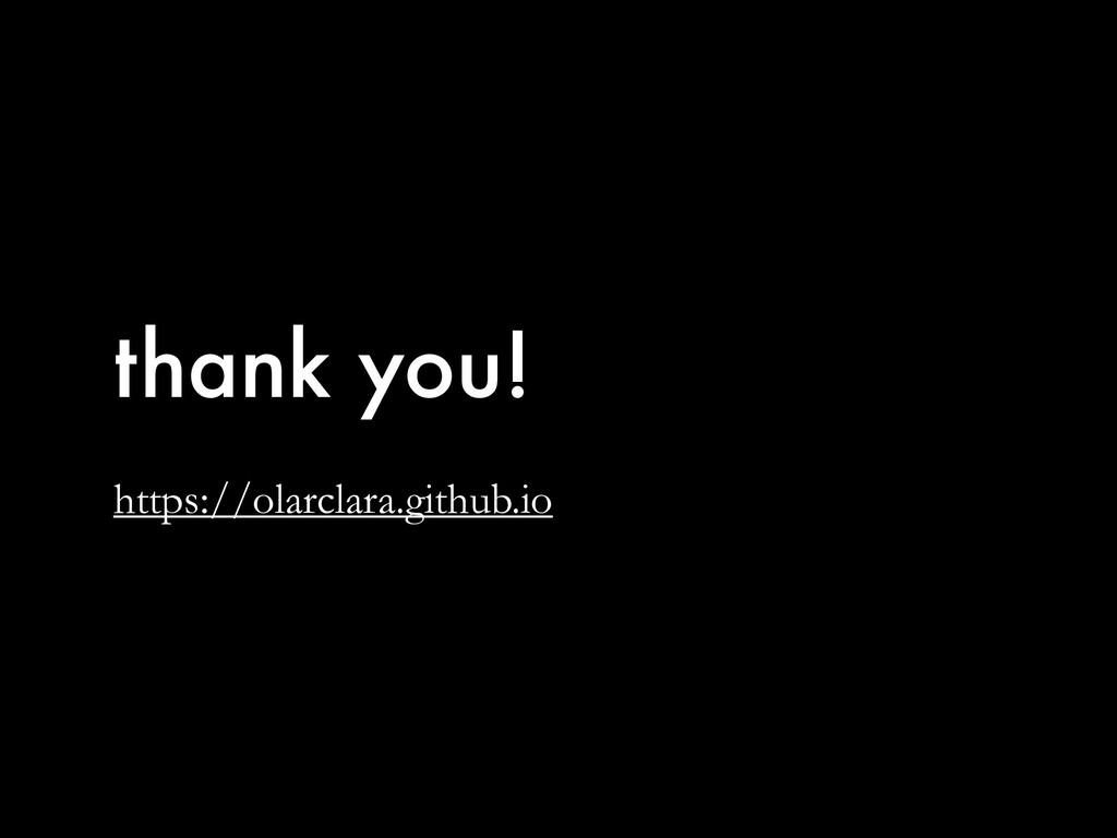 thank you! https://olarclara.github.io