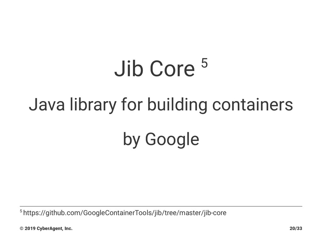 Jib Core 5 Java library for building containers...