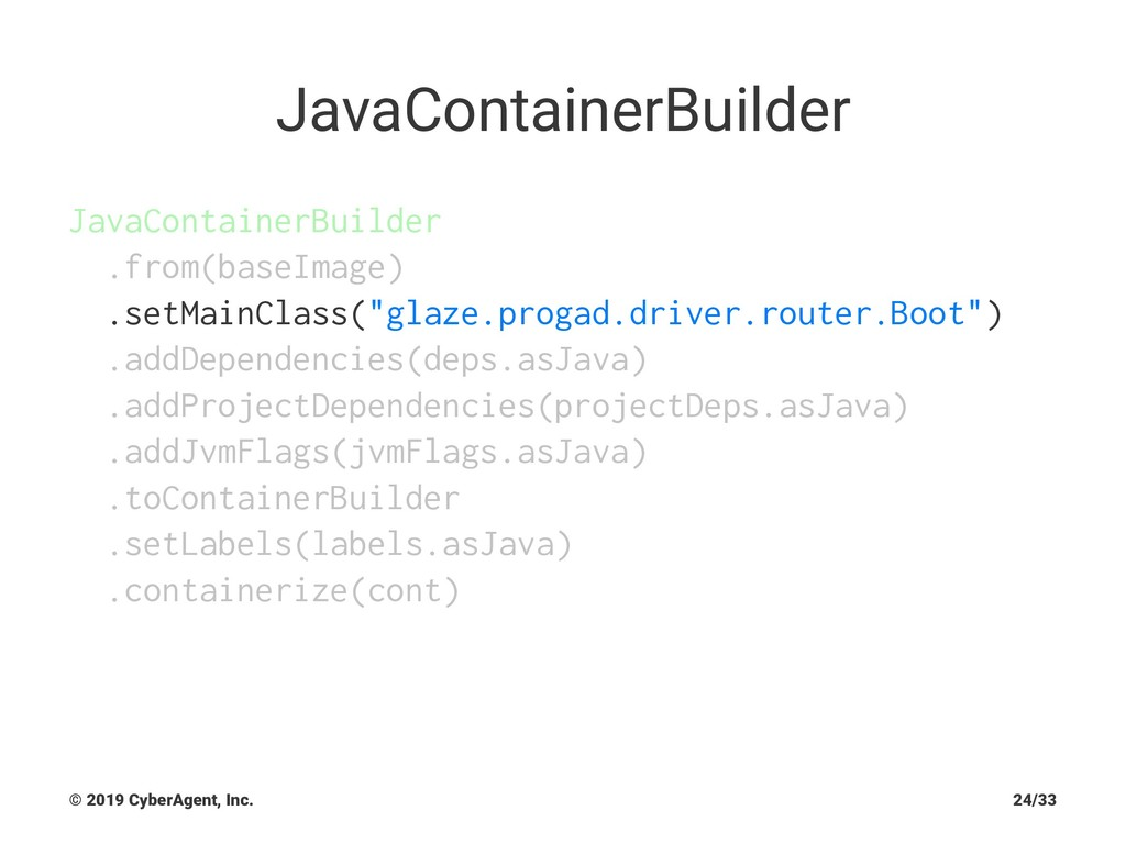JavaContainerBuilder JavaContainerBuilder .from...