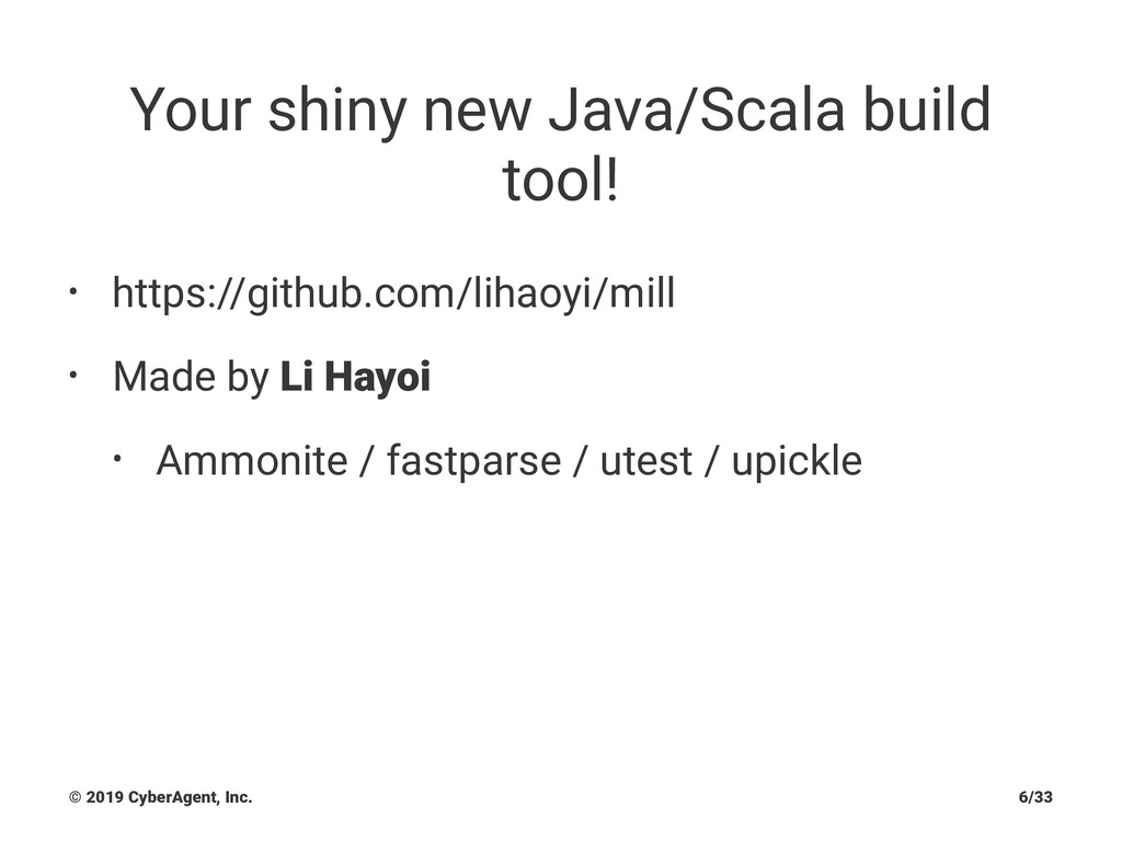 Your shiny new Java/Scala build tool! • https:/...
