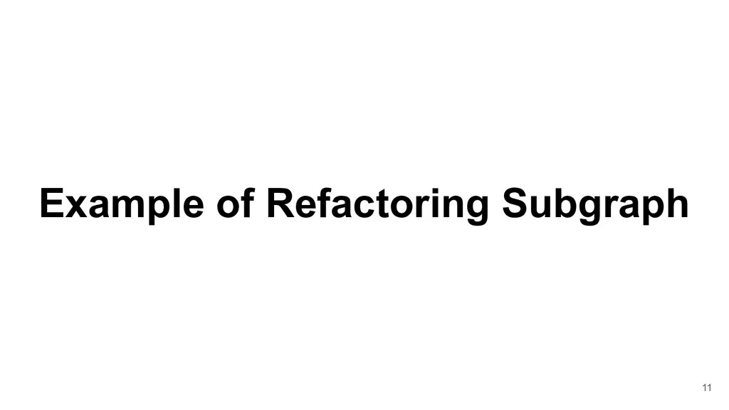 Example of Refactoring Subgraph 11