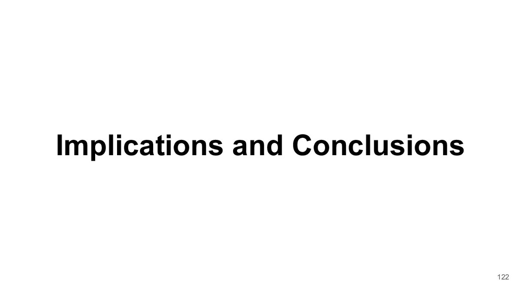 Implications and Conclusions 122