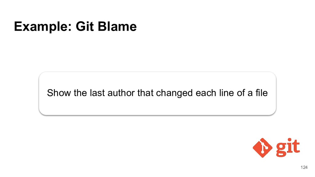 Example: Git Blame Show the last author that ch...