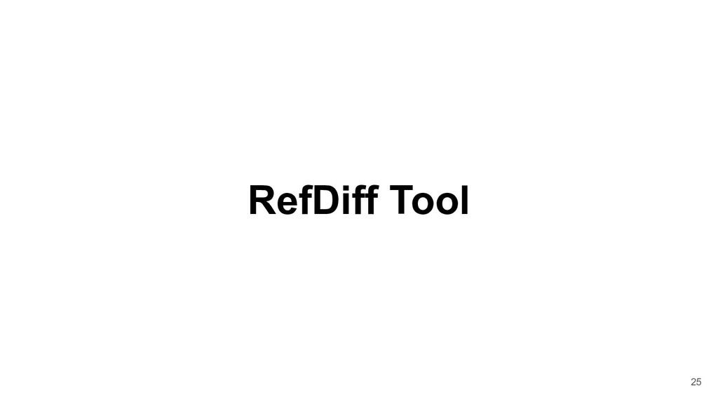 RefDiff Tool 25