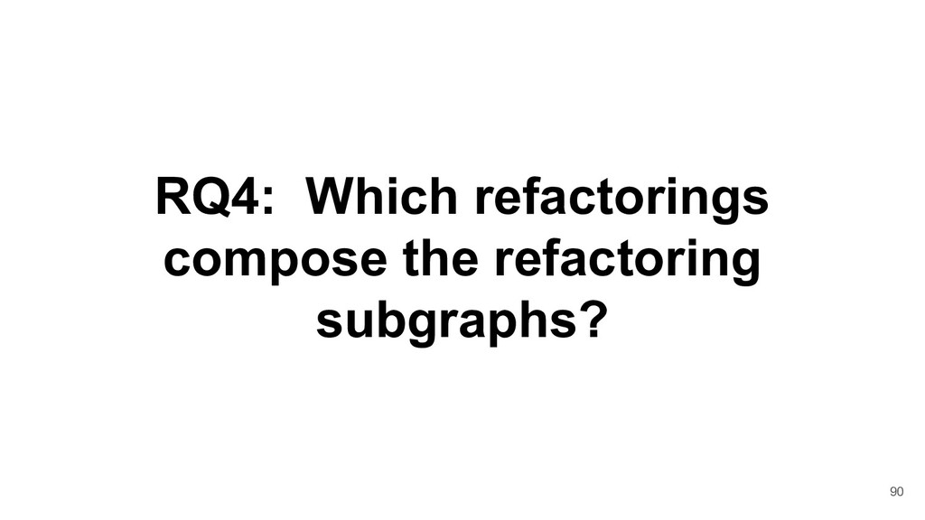 RQ4: Which refactorings compose the refactoring...