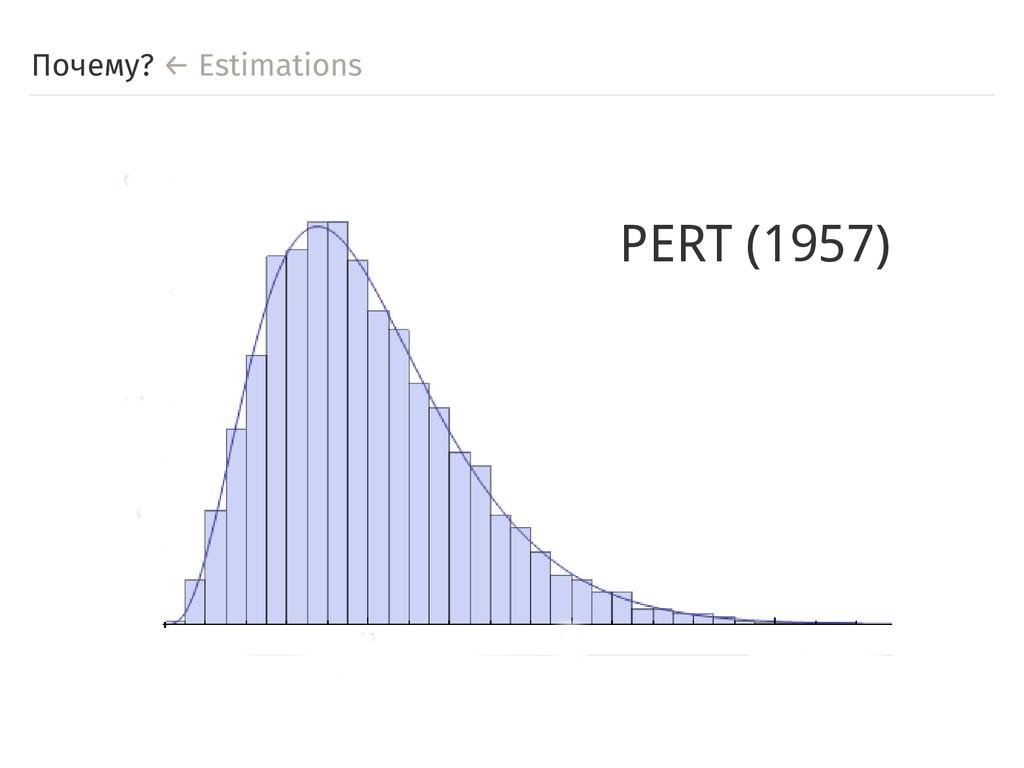 Почему? ← Estimations PERT (1957)