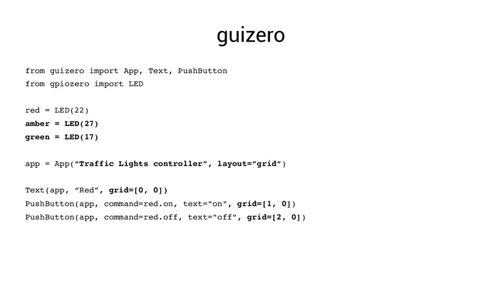 guizero from guizero import App, Text, PushButt...