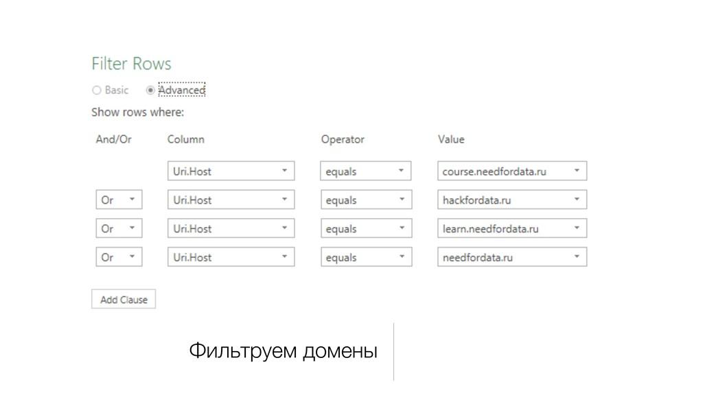 Фильтруем домены