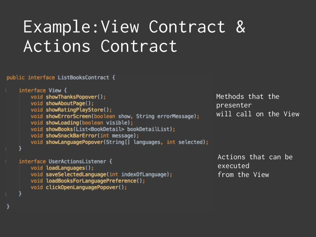 Example:View Contract & Actions Contract Action...
