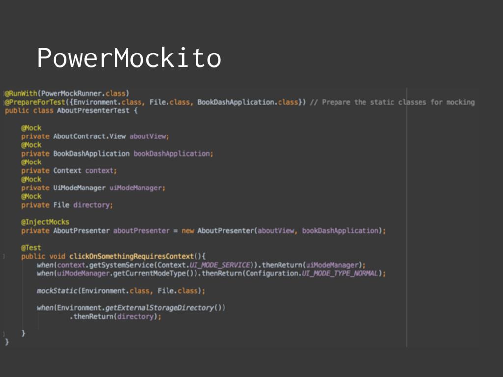 PowerMockito