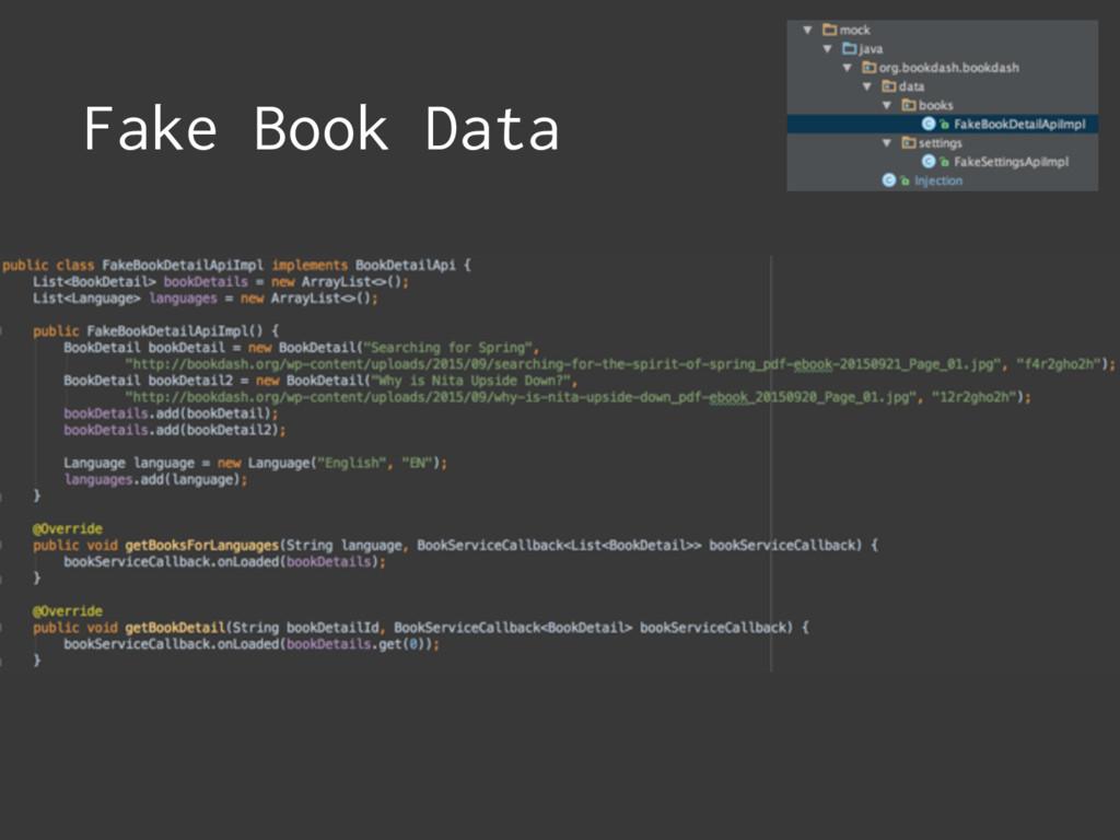 Fake Book Data