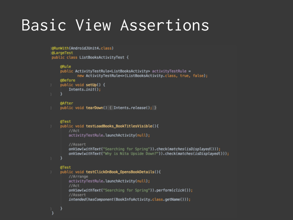 Basic View Assertions
