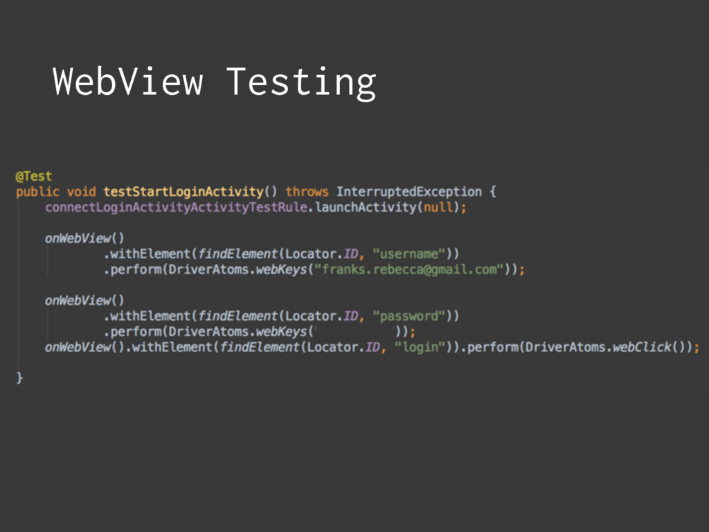 WebView Testing