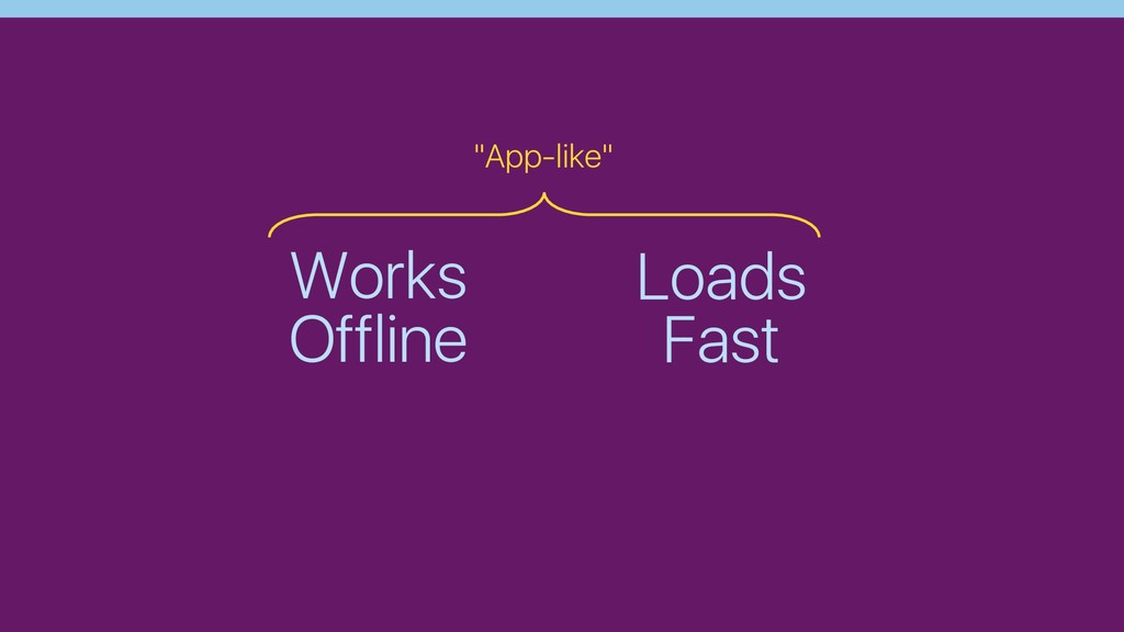 "Works Offline Loads Fast ""App-like"""