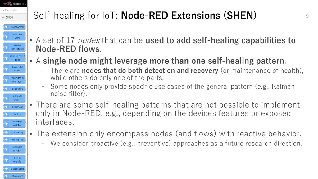 Self-healing for IoT: Node-RED Extensions (SHEN...
