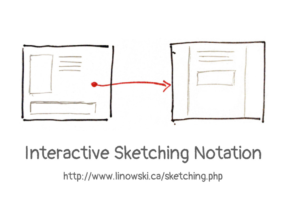 Interactive Sketching Notation http://www.linow...