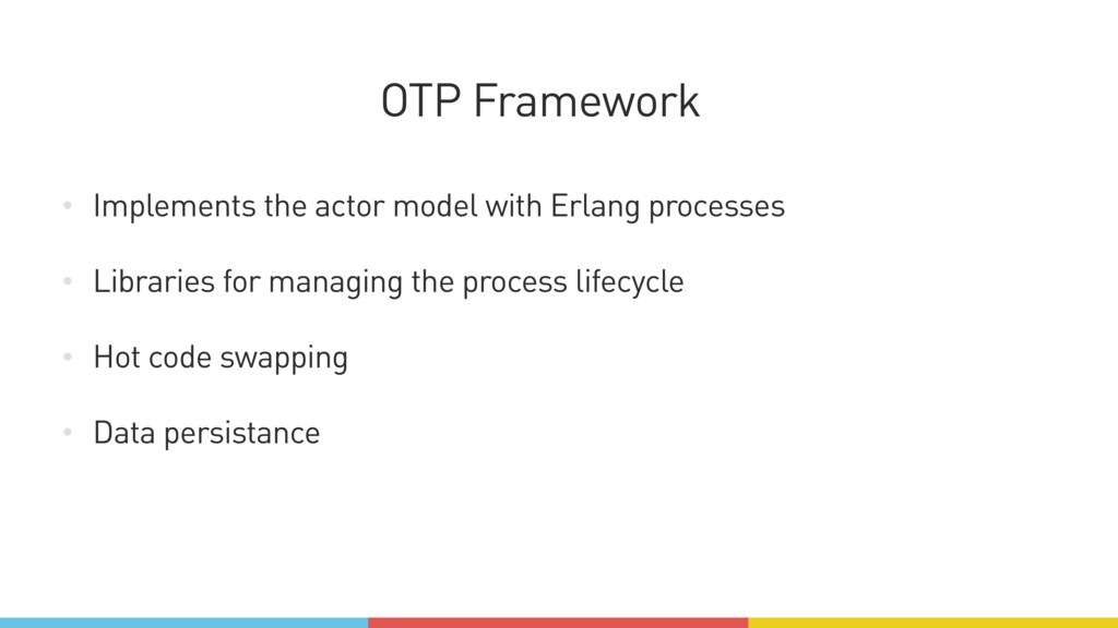 • Implements the actor model with Erlang proces...