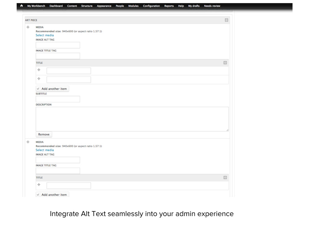Integrate Alt Text seamlessly into your admin e...