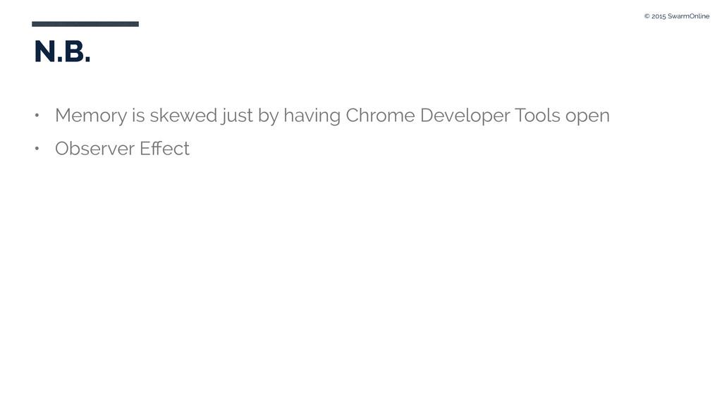 N.B. • Memory is skewed just by having Chrome D...