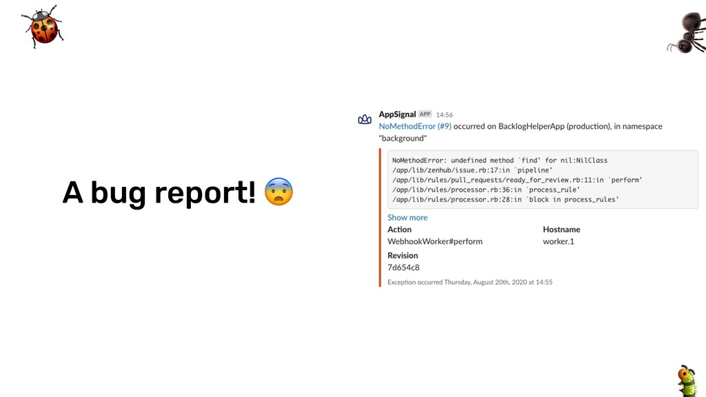@tombruijn A bug report!