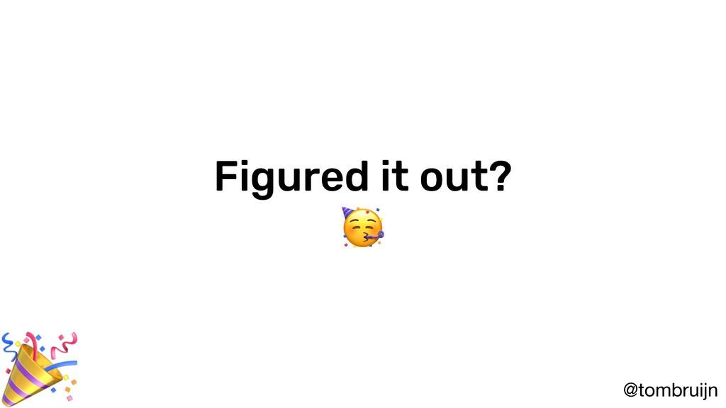 @tombruijn Figured it out?