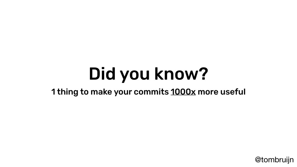 @tombruijn Did you know? 1 thing to make your c...