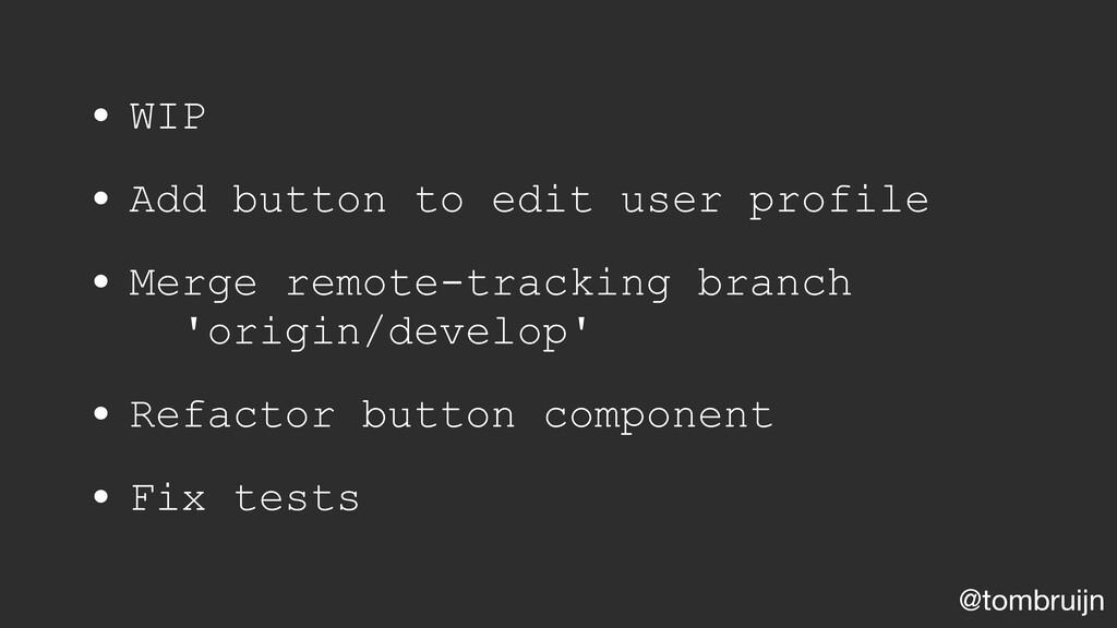 @tombruijn • WIP • Add button to edit user prof...