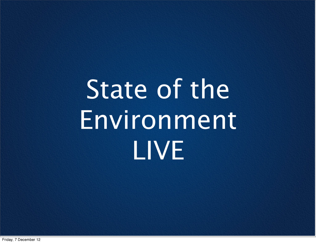 State of the Environment LIVE Friday, 7 Decembe...