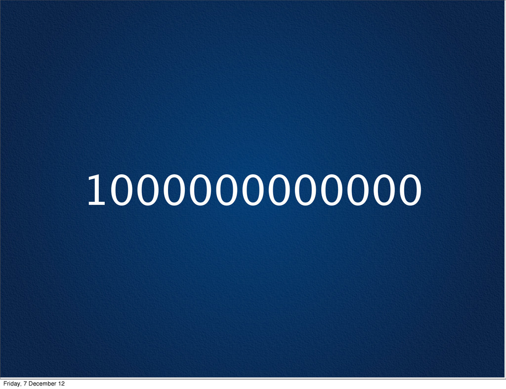 1000000000000 Friday, 7 December 12
