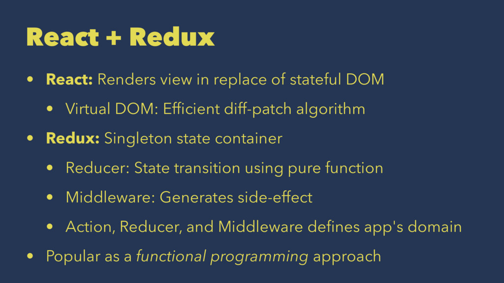 React + Redux • React: Renders view in replace ...
