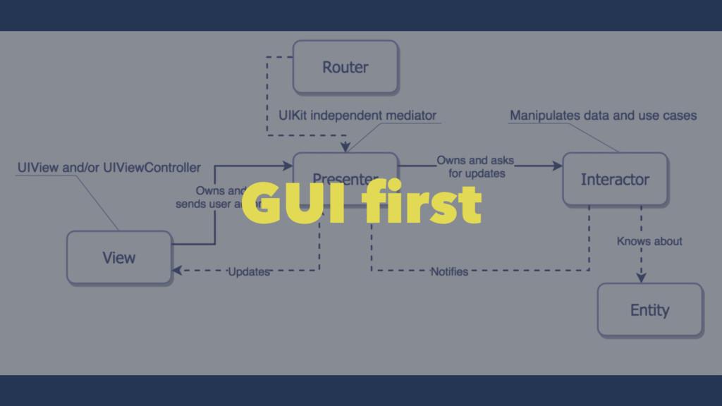 GUI first