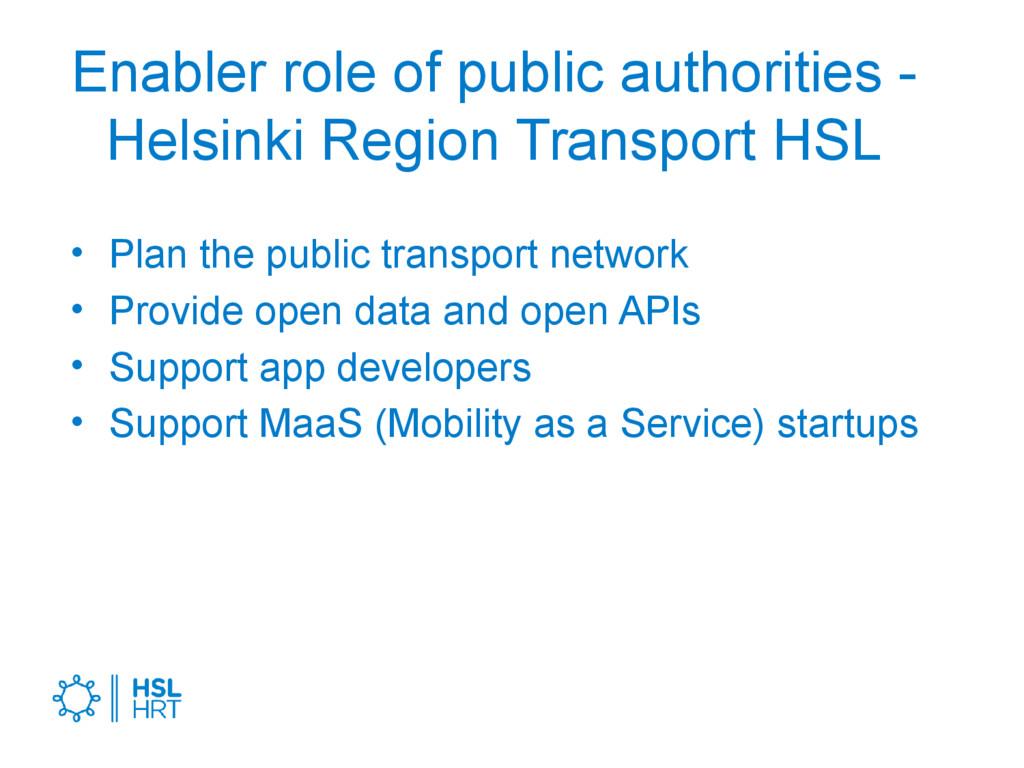 Enabler role of public authorities - Helsinki R...