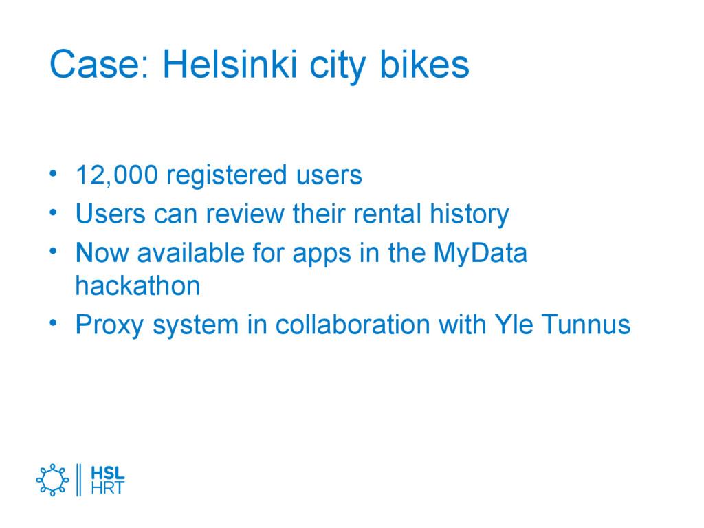 Case: Helsinki city bikes • 12,000 registered u...