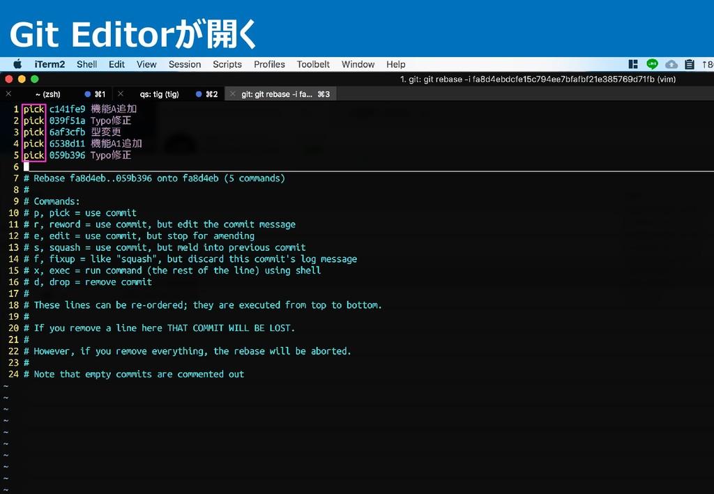Git Editorが開く 9