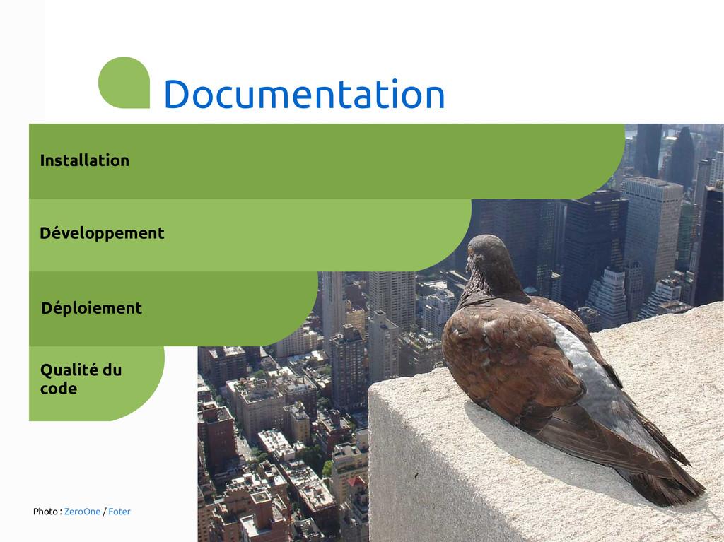 Documentation Qualité du code Installation Dépl...