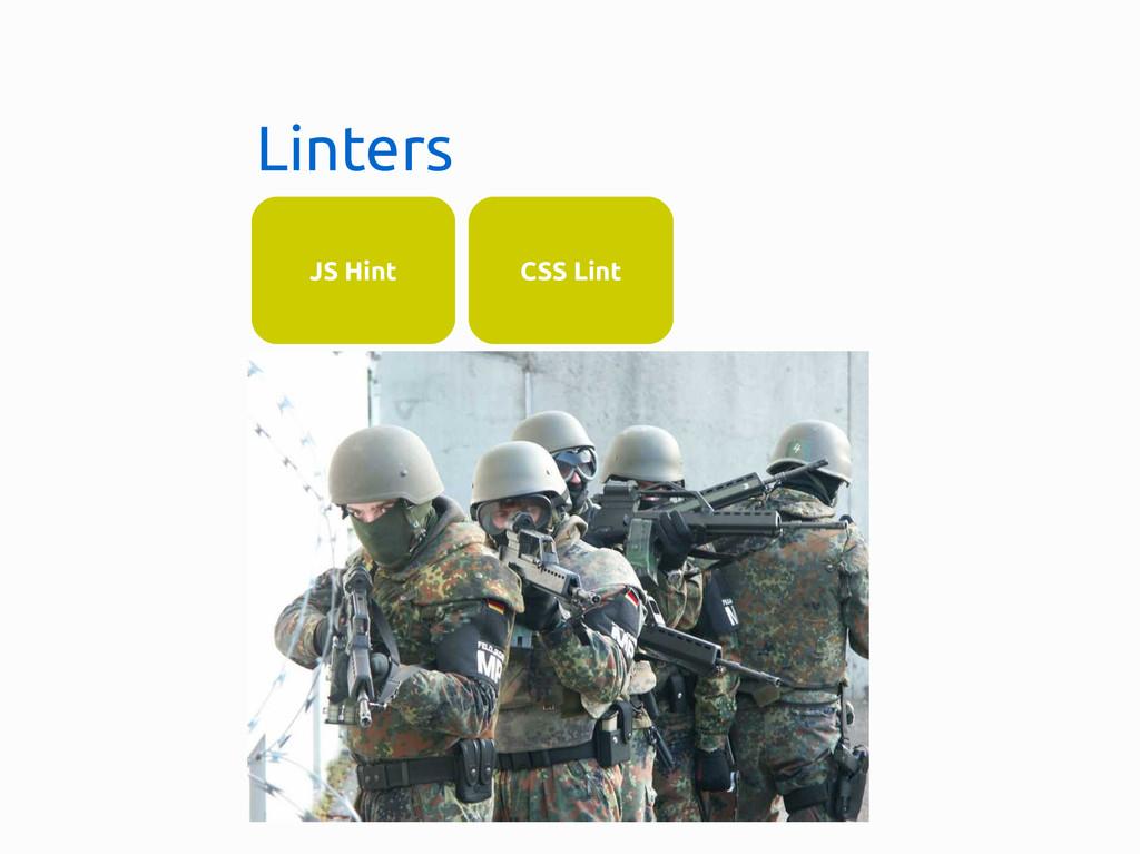 Linters JS Hint CSS Lint