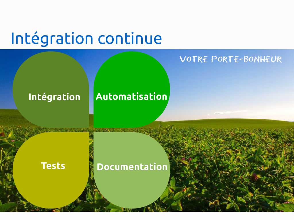Intégration continue Automatisation Tests Docum...