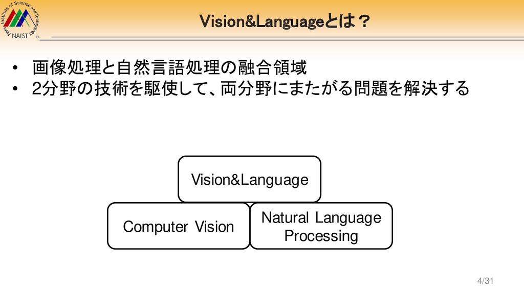 Vision&Languageとは? Computer Vision Natural Lang...