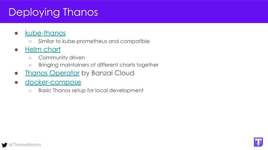 @ThanosMetrics ● ○ ● ○ ○ ● ● ○