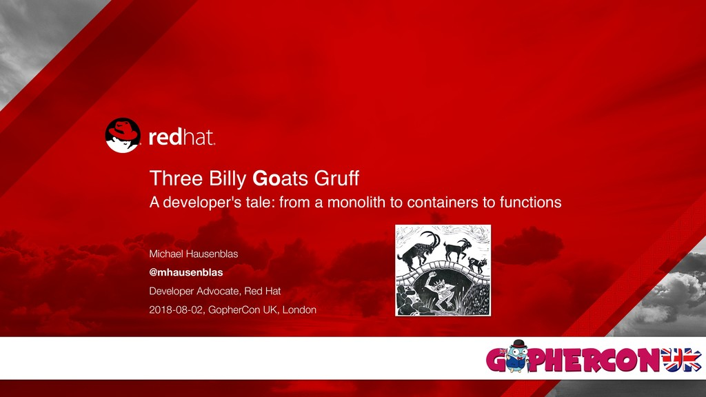 Three Billy Goats Gruff A developer's tale: fr...