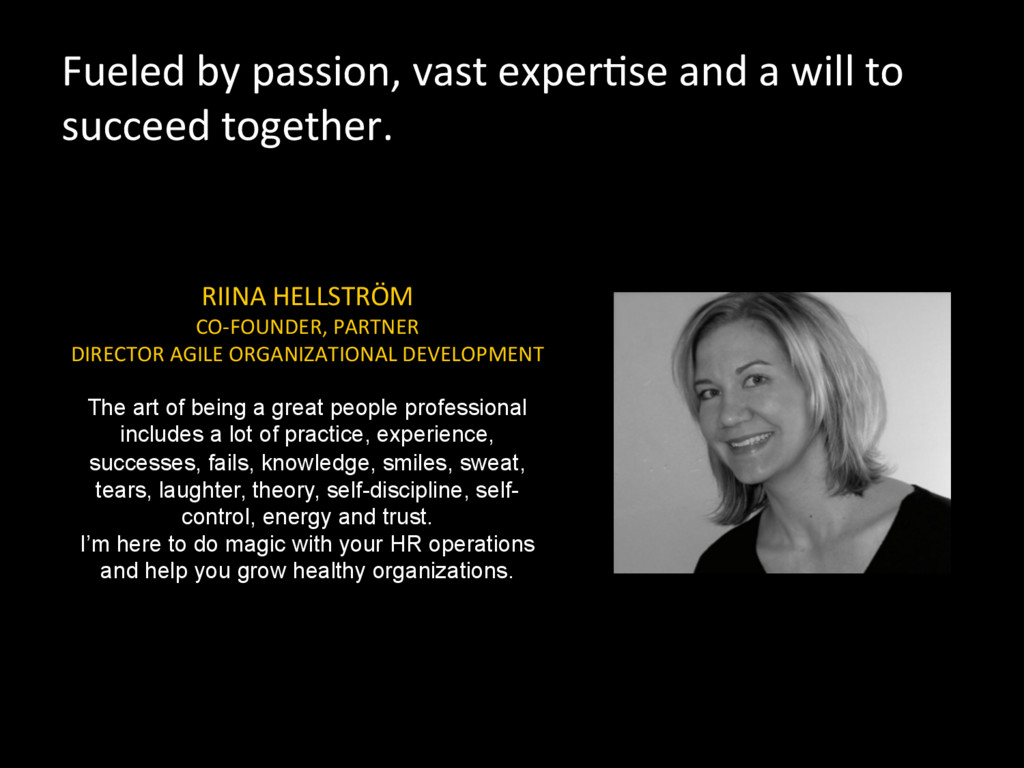 Fueled by passion, vast exper5se ...