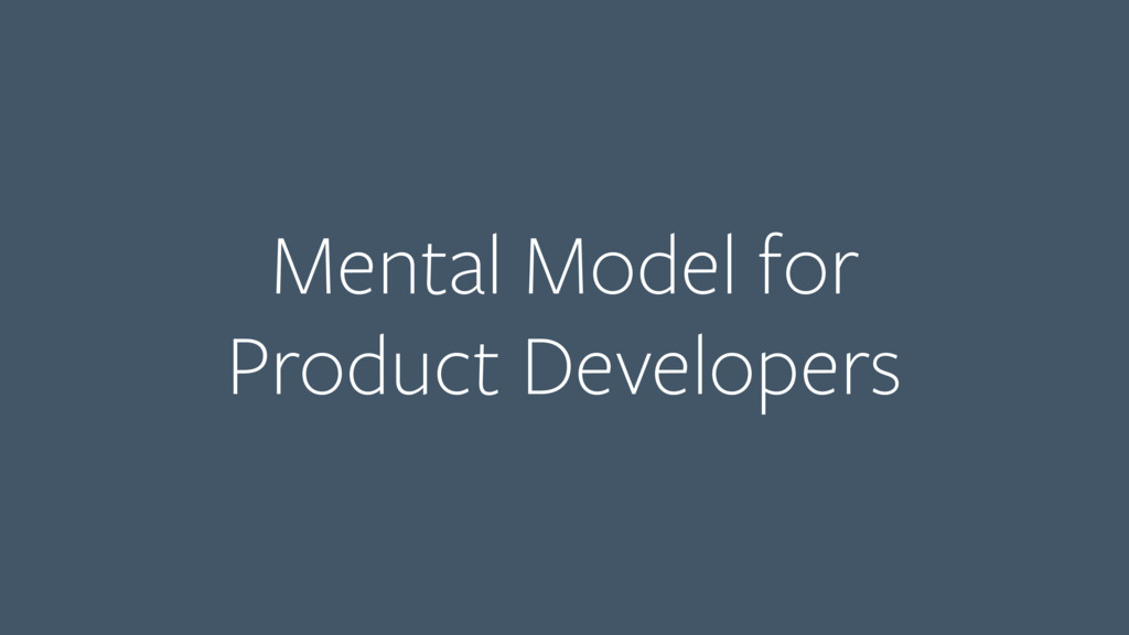 Mental Model for