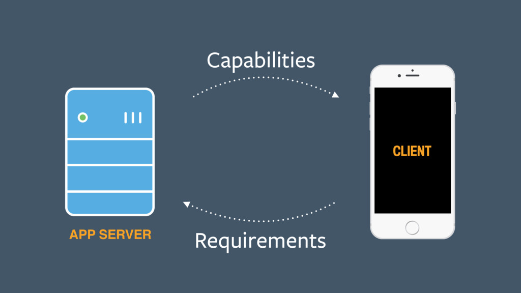 Capabilities Requirements CLIENT APP SERVER