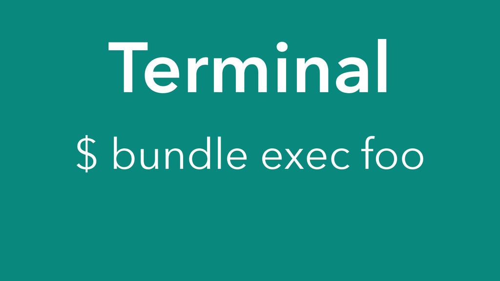Terminal $ bundle exec foo