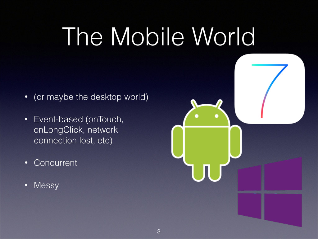 The Mobile World • (or maybe the desktop world)...