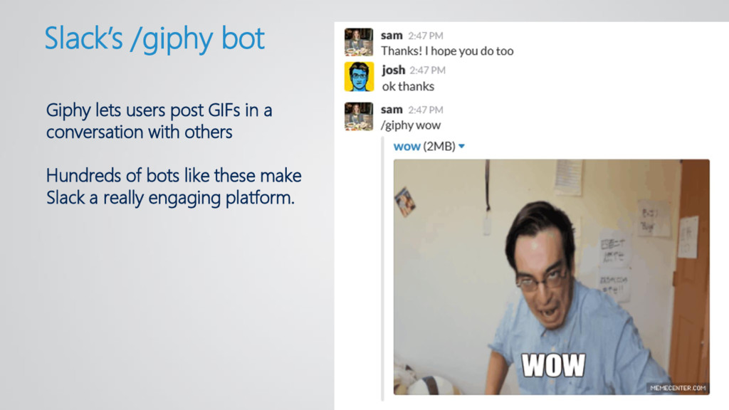 Giphy lets users post GIFs in a conversation wi...