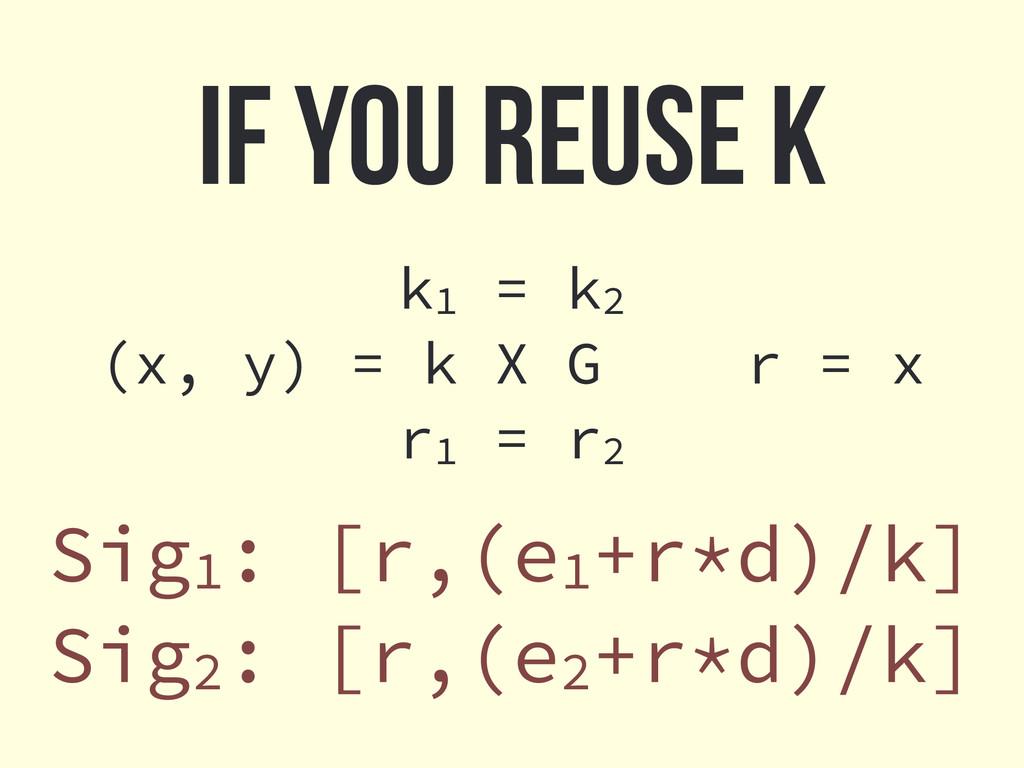 k1 = k2 (x, y) = k X G r = x r1 = r2 If you reu...