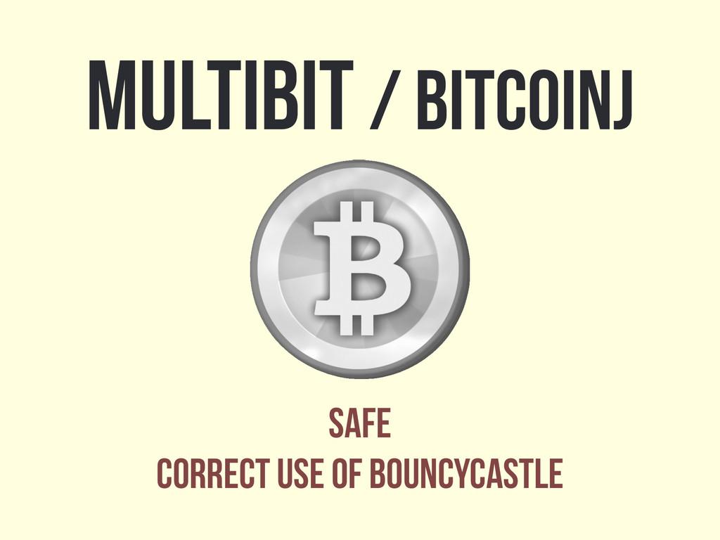 Multibit / bitcoinj safe correct use of bouncyc...